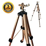 SOMMERLAND Brass Impact Tripod Sprinkler for Garden and Lawn with Heavy Duty Brass Impact Sprinkler Head(16-37' w/Head) (1PK 25'-48')