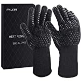 MILcea BBQ Gloves 1472° F Extreme Heat Resistant Gloves for Grill, Cooking Grill Gloves, for...