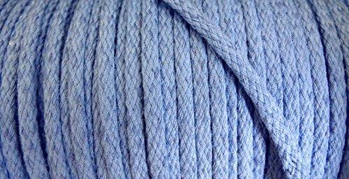 5 m Baumwollkordel 5 mm jeans blau