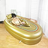 gonflable Baignoire Plus épais Adulte Tub Tube Plastique Baignoire (Or)
