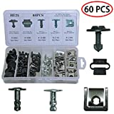 Medoon Car Engine Protection Trim Pin Clip Engine Protection Pan Fastener Rivet Clips for Audi VW 60PCS