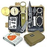 Wokkom -Kit de Survie Militaire Kaki Complet avec 10 Outils Multifonctions...