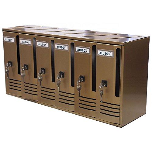 Alubox 27360-20 Alu Casellari Postali, Serie C/6.6-Box, 62x30x17.5, Bronzo
