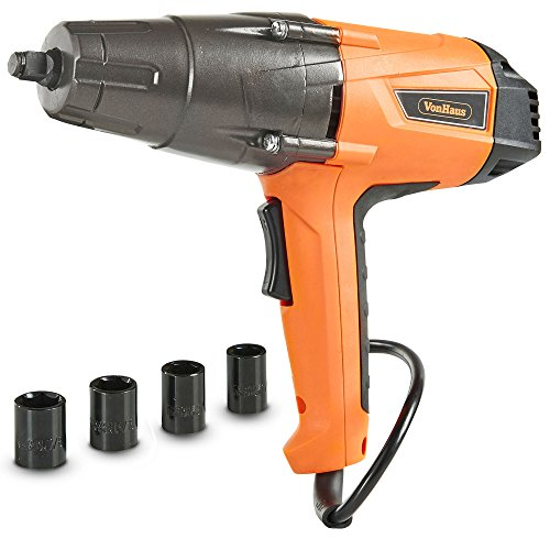 VonHaus Impact Wrench Set, 1/2-inch Drive with Hog Ring...