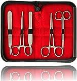 Sezierset Disección Sezierbesteck Preparación Inclusive 5 Escalpelo y Nailon Hilos para Coser
