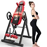Yoleo Gravity Heavy Duty Inversion Table with Headrest & Adjustable Protective Belt Back Stretcher Machine for Pain Relief Therapy