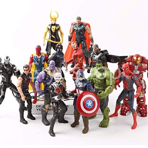 Siyushop Superhelden Figuren, Helden-Action-Figuren - Heldenfiguren-Modell-Set, Heldenpuppe Ornamente Handmodell Spielzeugpuppe - 15 Modelle