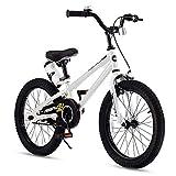 RoyalBaby Kids Bike Boys Girls Freestyle BMX Bicycle With Kickstand Gifts for Children Bikes 18 Inch White