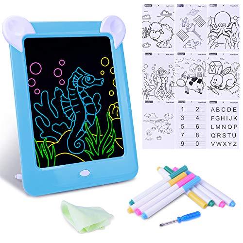 Tavoletta da Disegno Lavagna Magica con Luci per Bambini, Disegno Educativo per Bambini e Cornice...