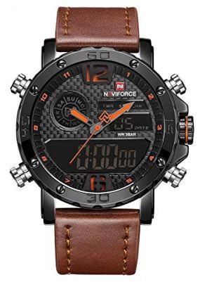 NAVIFORCE Analog Digital Watch Men Sport Dual Display Watches Waterproof Chronograph Back-Light Quartz Wristwatch