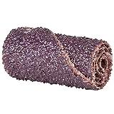 Merit Abrasive Cartridge Roll, Aluminum Oxide, 1/8' Arbor, Roll 3/8' Diameter x 1-1/2' Length, Grit 40 (Pack of 100)