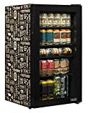 NewAir Beverage Refrigerator Cooler with 126 Can Capacity - Mini Bar Beer Fridge with Right Hinge Glass Door - Cools to 34F - AB-1200BC1 - Beers of the World