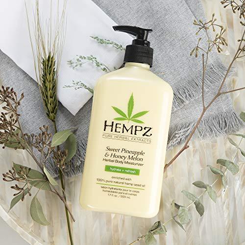 Hempz Sweet Pineapple & Honey Melon Moisturizing Skin Lotion, Natural Hemp Seed Herbal Body Moisturizer with Jojoba, Natural Extracts, Vitamin A and E, 17 oz 3