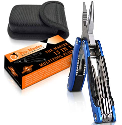 Multitool Knife. 15 in 1 Portable Pocket Multifunctional Multi Tool. Folding Saw, Wire Cutter,...