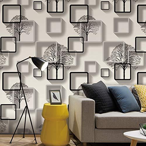 Bigkam White Purple Blue Modern 3d Wallpaper For Living Room Bedroom Tv Background Home Decoration Squares Pattern Wall Paper Roll Buy Online In Angola At Desertcart 156896542