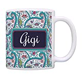 Gigi Mothers Day Gift for Gigi Birthday Gift Gigi Grandma Gifts Coffee Mug Tea Cup Paisley