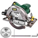 TECCPO Professional Scie Circulaire Électrique 1200W 5800 tr/min, Avec 24T...