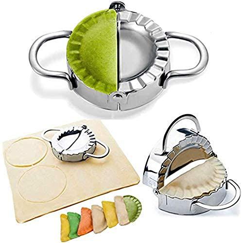 Dumpling Maker - Dumpling Press/Stainless Steel Empanada Press/Pie Ravioli Dumpling Wrappers Mold Kitchen Accessories (9.5cm/3.74' Large)