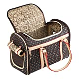 Adriene's Choice Luxury Pet Carrier, Puppy Small Dog Carrier, Cat Carrier Sling Bag, Waterproof Premium PU Leather Carrying Handbag for Outdoor Travel Walking Hiking