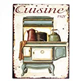 Antikas - Cartel de Chapa como Esmalte - Placas Nostalgia - decoración Cocina - letreros de Pared -...