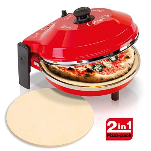 Spice Set Forno Pizza Caliente 400 gradi resistenza circolare 1200 W + seconda Pietra Refrattaria...