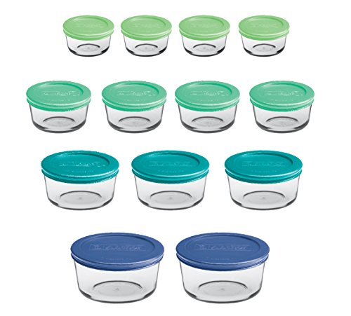 Glass Containers with Plastic Lids