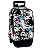 Star Wars Mochila con Carro Plegable, Ruedas, Trolley