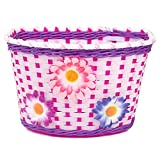 Farway Classic Kid's Girl's Bike Flower Basket Bicycle Front Decoration-Colorful