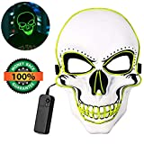 Halloween Mask LED Scary Masks Light Up Mask Cosplay Costume EL Wire Face Mask for Festival Party