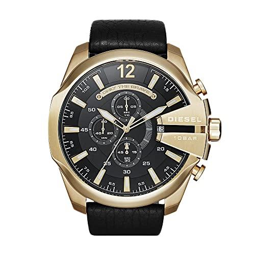 Diesel Herren Chronograph Quarz Uhr mit Edelstahl Armband DZ4344