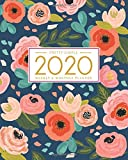 2020 Planner Weekly and Monthly: January to December: Navy Floral Cover (2020 Pretty Simple Planners)