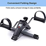 Qualimate Smart Fitness Cycle Digital Foldable Portable Foot Pedal Exerciser Cycle for Home Gym Fitness