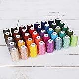 Threadart 40 X-Large Cones Polyester Embroidery Machine Thread Set Jewel Colors | 1000M Cones 40wt | For Brother Babylock Janome Singer Pfaff Husqvarna Bernina Machines