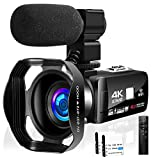 Video Camera 4K 48MP 18X Digital Camera WiFi Video Camera for YouTube IR Night Vision Camcorder...