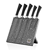 Stainless Steel Knives Magnetic - Kricson 6 Piece Kitchen Knife Set Granite Coated with...