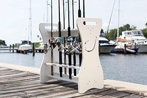 Sea Racks 24 Fishing Rod Rack - Fish Hook- Waterproof! WASH Your RODS...