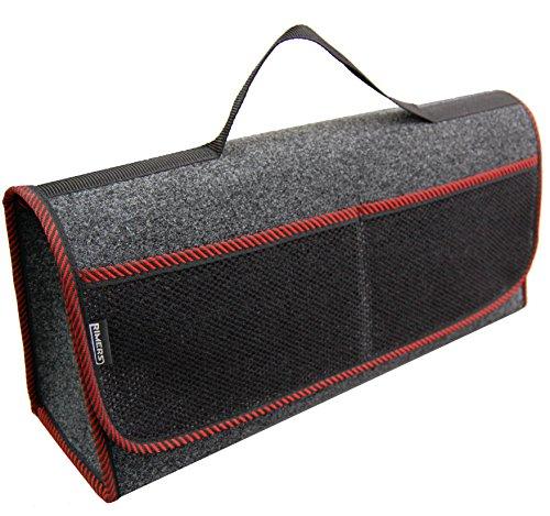 Rimers Kofferraumtasche Rot Auto Tasche Zubehörtasche Car Boot Organiser Toolbag 50x16x21cm Klettverschluss