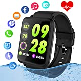 Smart Watch,Fitness Tracker Watch with Heart Rate Monitor IP67 Waterproof Bluetooth Smartwatch Sports Activity Tracker with Pedometer Smart Bracelet for Men Women Kids Compatible Android iOS Phones
