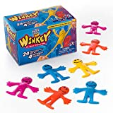 Stretchy Happy Man Toy (Set of 24) Sensory Gel Toy for Kids and Adults, Stress and Anxiety Relief...