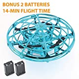 Hand Controlled Mini Drone by Gaduge – The Best Kid's Drone – Safe and Durable Cage Drone with Sensors for Hands-Free Flying – LED Lights for Night Flights – 3 Fun Colors + Extra Battery