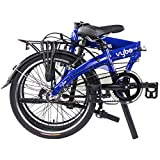 """Dahon VYBE I3 Folding Bike, Lightweight Aluminium Frame 3-Speed Shimano Gears 20"""" Foldable Bicycle for Adults, Blue"""