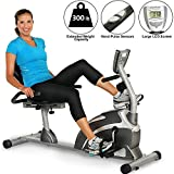 Exerpeutic 1111 900XL Extended Capacity Recumbent Bike with Pulse