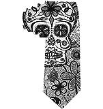 Cravate Classique Cravate Noeud papillon en polyester, blanc, griffonnage, tête de mort, garçon, école décontractée