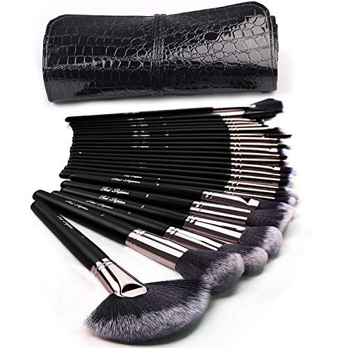 Makeup Brushes 24pcs Makeup Brushes Set Kabuki Foundation Blending Brush Face Powder Blush Concealers Eye Shadows Make Up Brushes Kit with Bag