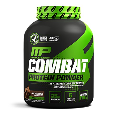 MusclePharm Combat Protein Powder, 5 Protein Blend, Chocolate...