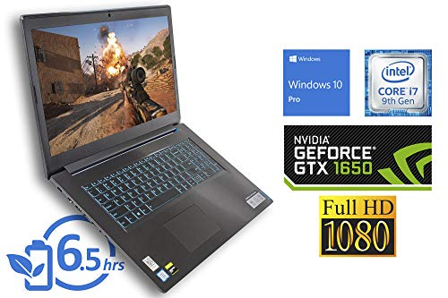 "Lenovo IdeaPad L340 Gaming Laptop, 17.3"" FHD Display, Intel Core i7-9750H Upto 4.5GHz, 32GB RAM, 2TB NVMe SSD, NVIDIA GeForce GTX 1650, HDMI, Wi-Fi, Bluetooth, Windows 10 Pro"