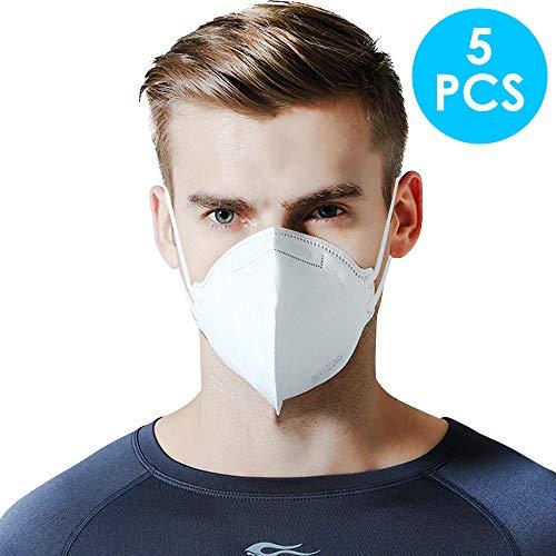 Maschera di protezione per la respirazione FFP2, N95, unisex, antipolvere, per portatori di occhiali (KN95).