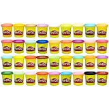 Over 6 pounds of Play Doh compound this Play Doh modeling compound 36 pack has 36 assorted colors in 3 Ounce cans for all your colorful creative needs, and there's plenty for kids to share Mega pack of Mega Play Doh fun shape, squish, mix, and make i...