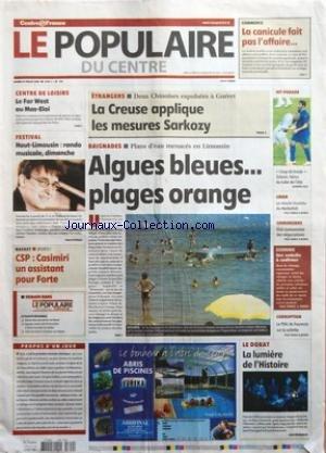 POPULAIRE DU CENTRE (LE) [No 174] du 29/07/2006 - COMMERCE - LA CANICULE...