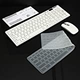 HS Enterprise Ultra Thin 2.4GHz Big Wireless Keyboard & Mouse Combo Kit for Laptop and PC(White Colour) Built Quality of Wireless Mouse & Keyboard with Combo Kit Competible (White)